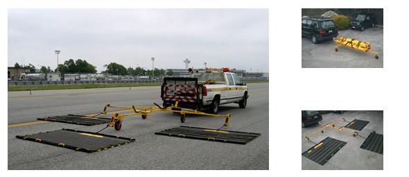 Sistema Triple: El Triplex en acción, en posición de almacenamiento, el transporte al sitio y listo para funcionar.